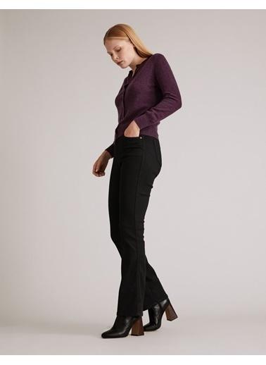 Marks & Spencer Yüksek Bel Flared Jean Pantolon Siyah